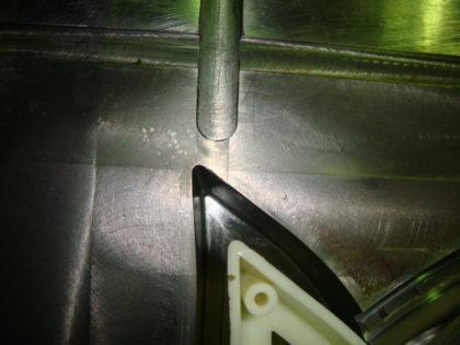 アルゴン溶接によるバリ修理