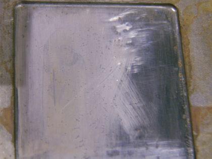 金型鏡面部のサビ取り加工